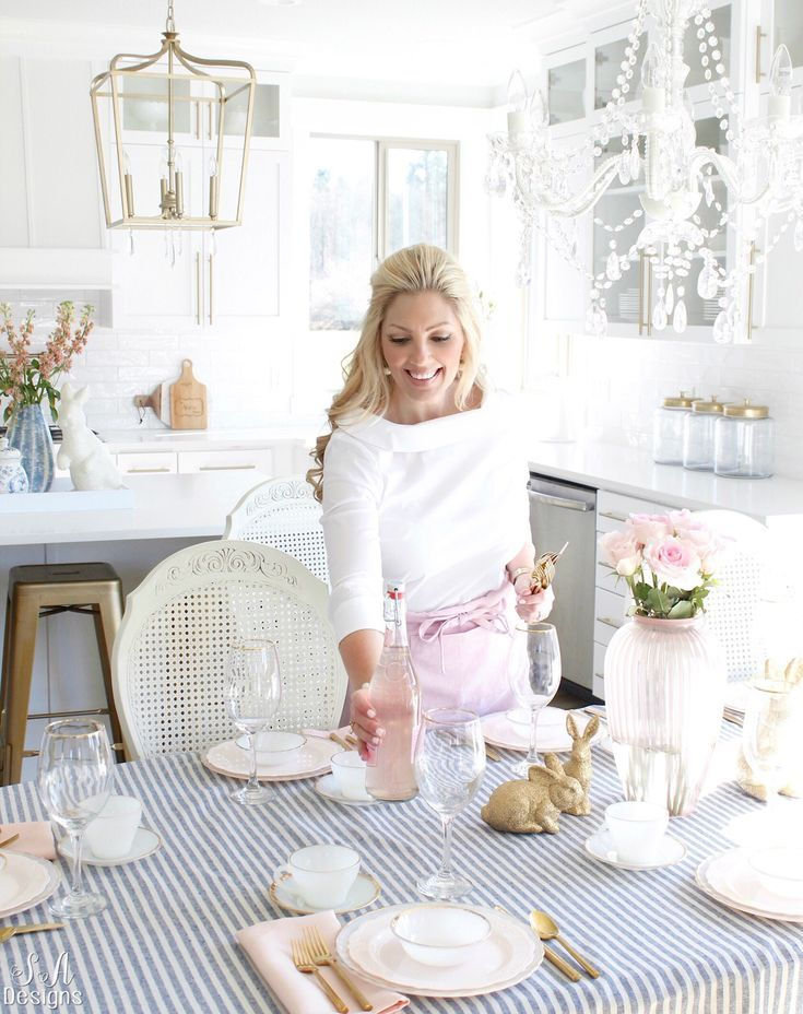 Photo of Blush & Blue Easter Table & Kitchen – Summer Adams