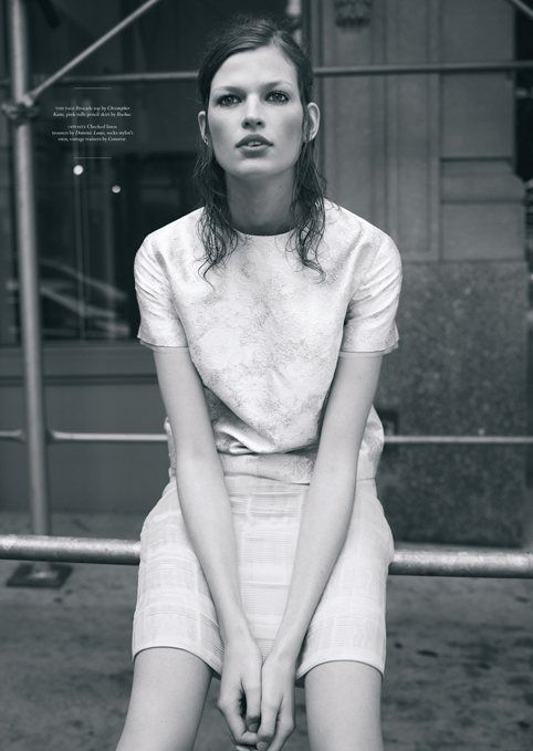 Bette Franke Keeps it Casual Chic in Amy Troosts Twin S/S 2012 Shoot
