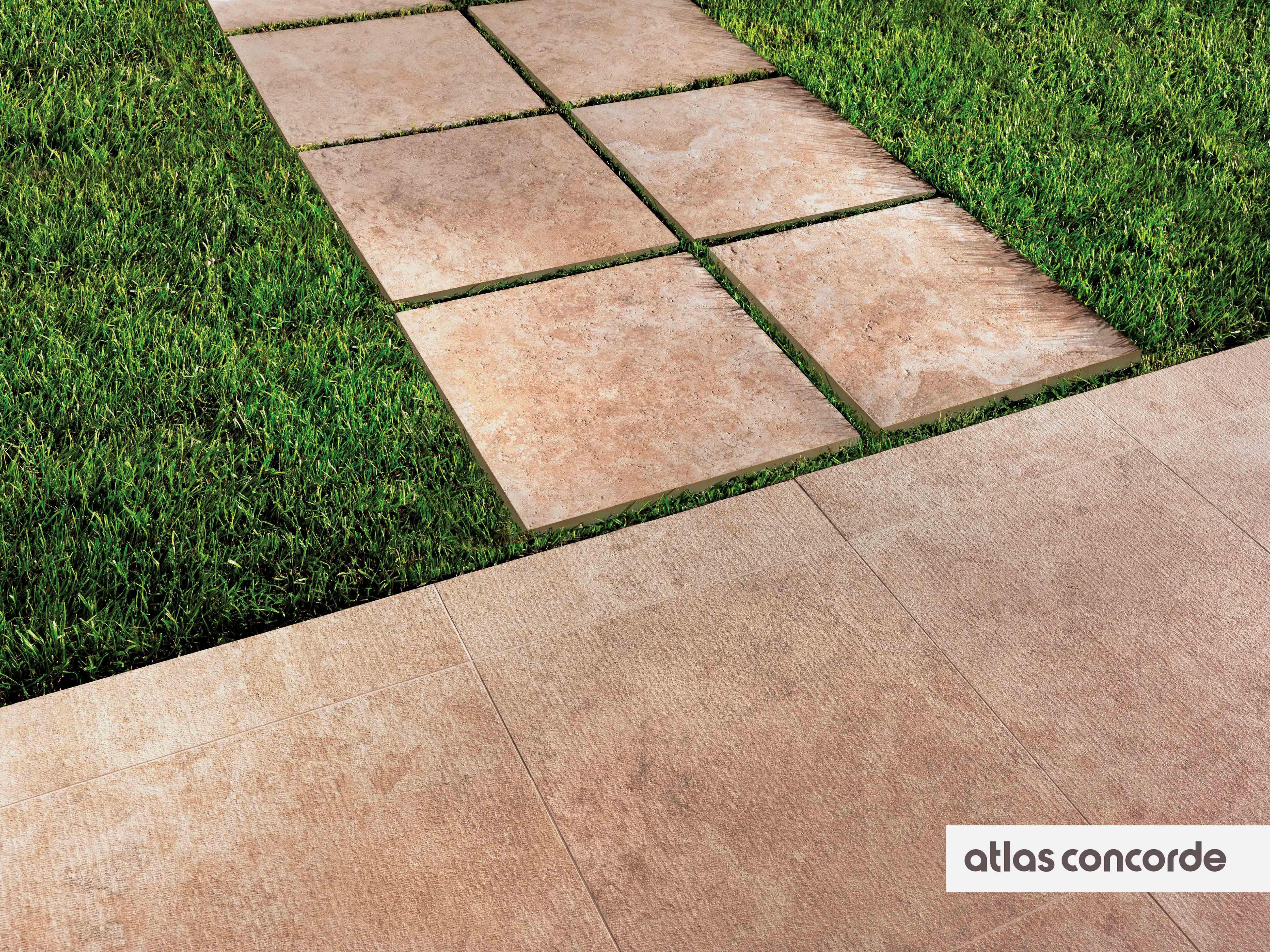 Terrassenplatten Naturstein Optik Beige 60x60x2cm Sunrock Bourgogne