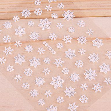 6PCS 3D White ongle d'autocollants de mariage de Noël mignon – CAD $ 3.38