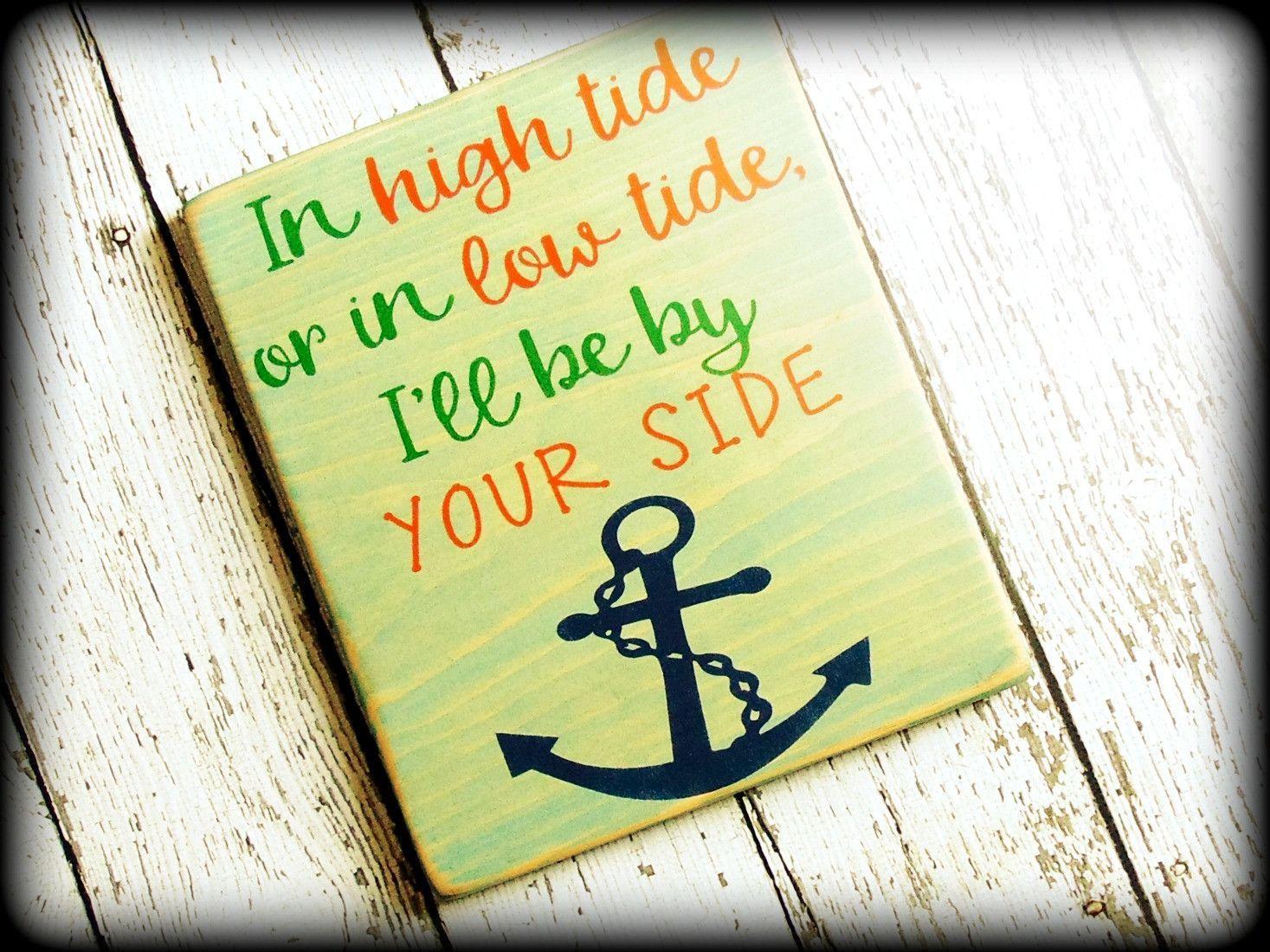 Nautical Theme Decor Beach Sign Anchor Wall Art | Nautical theme ...