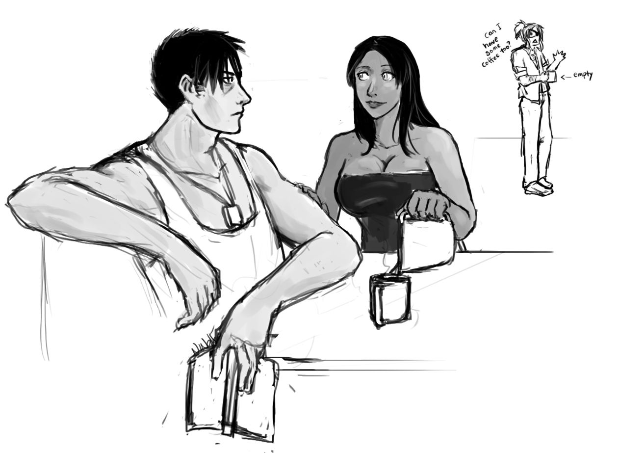 neener-nina:  This one goes into the Nicolex tag. What are anatomies? I got used to drawing guys with MUSCLE because folken :V Had to tone it down and still feel like it isnt Nicolas' body type.