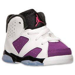 more photos a6d28 6b080 Girls' Toddler Air Jordan Retro 6 Basketball Shoes   Finish ...