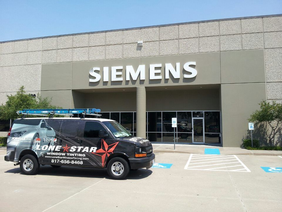 Siemens chose Lone Star Window Tinting to install DR 15 on