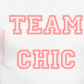Team Chic Baseball long sleeved t-shirt | Chic Jewel Couture by Melanie Falvey