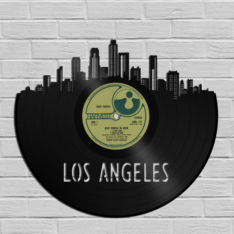 Los Angeles Skyline, California Travel Art, Homesick Gift ...