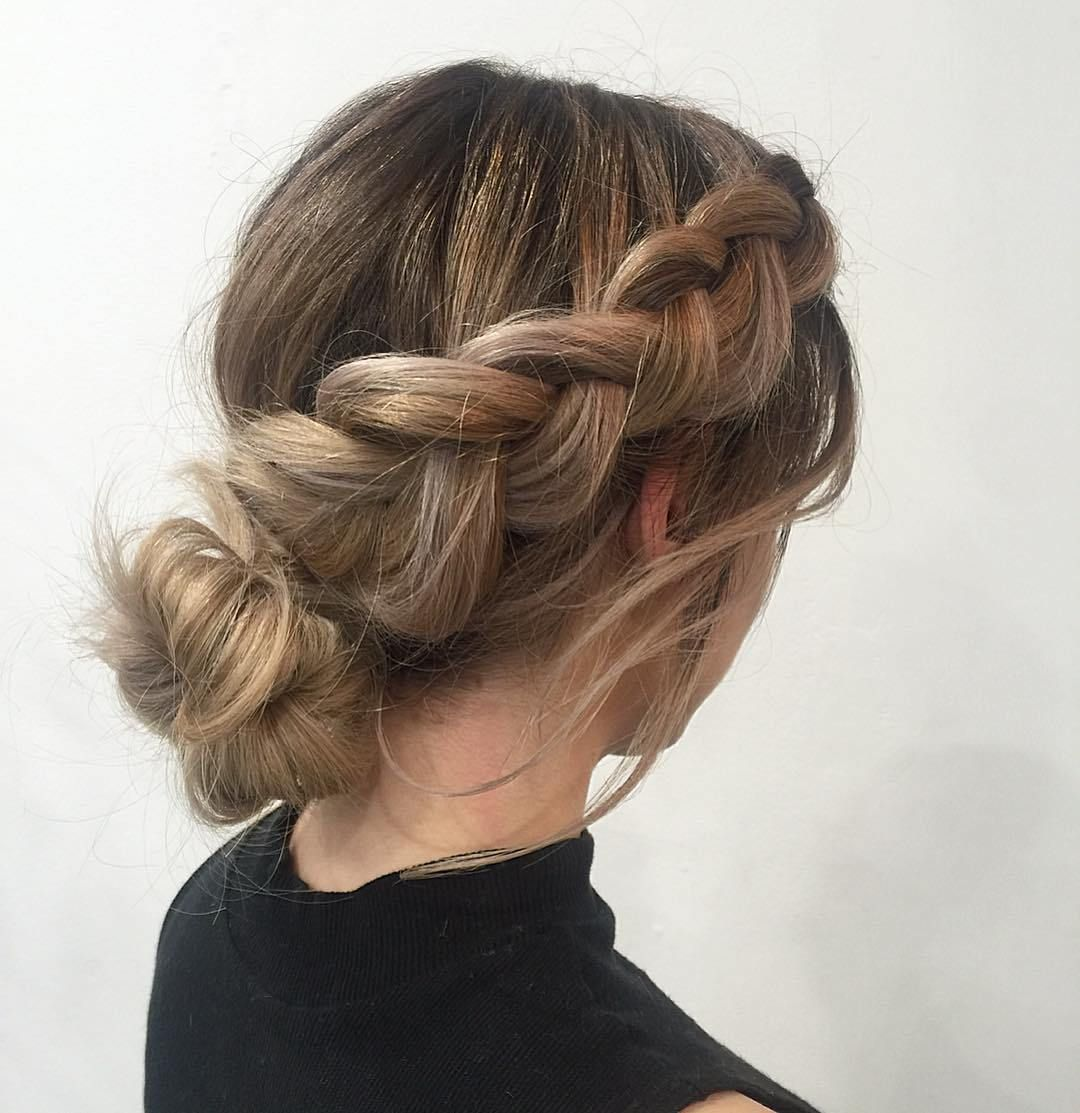 trendy hairstyles you should try dutch braid into a casual knot