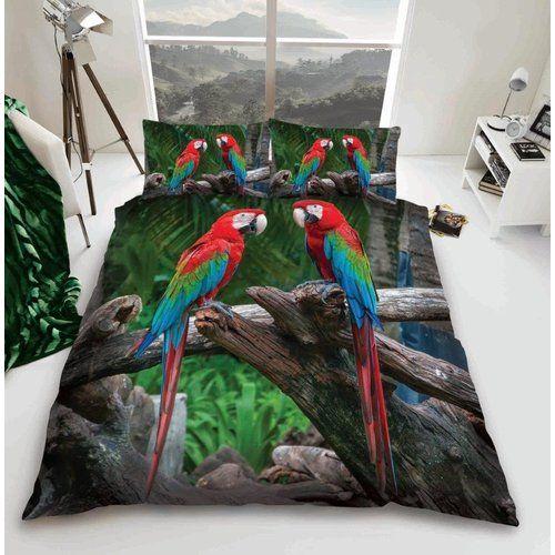 Noriega 3d Papagei Perkal Bettdecke Set Sansibar Home Grosse 230 X