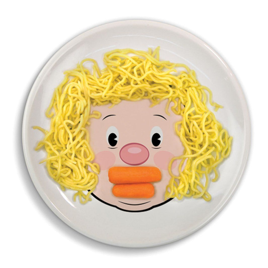 Childs Childrens Food Face Plate Make Fun Art Faces at Dinner  sc 1 st  Pinterest & Fred and Friends Food Face plate | Fred \u0026 Friends | Pinterest ...
