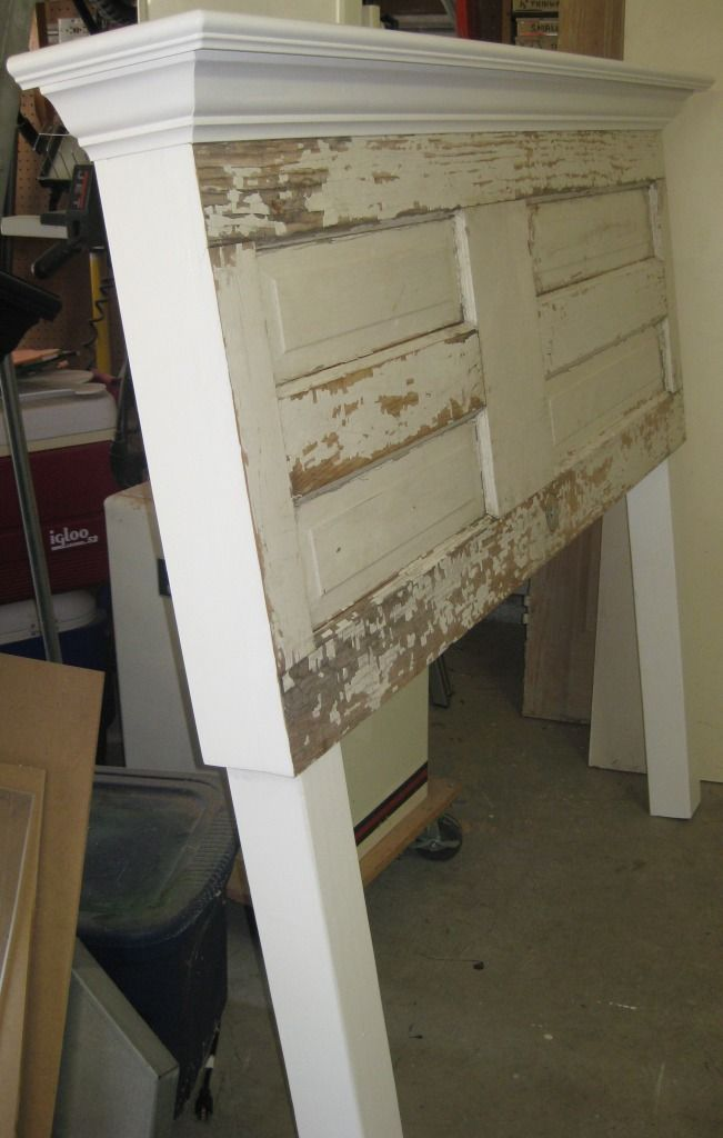 90 year old distressed door made into