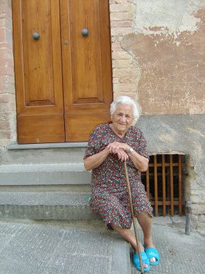 Woman in Tuscany