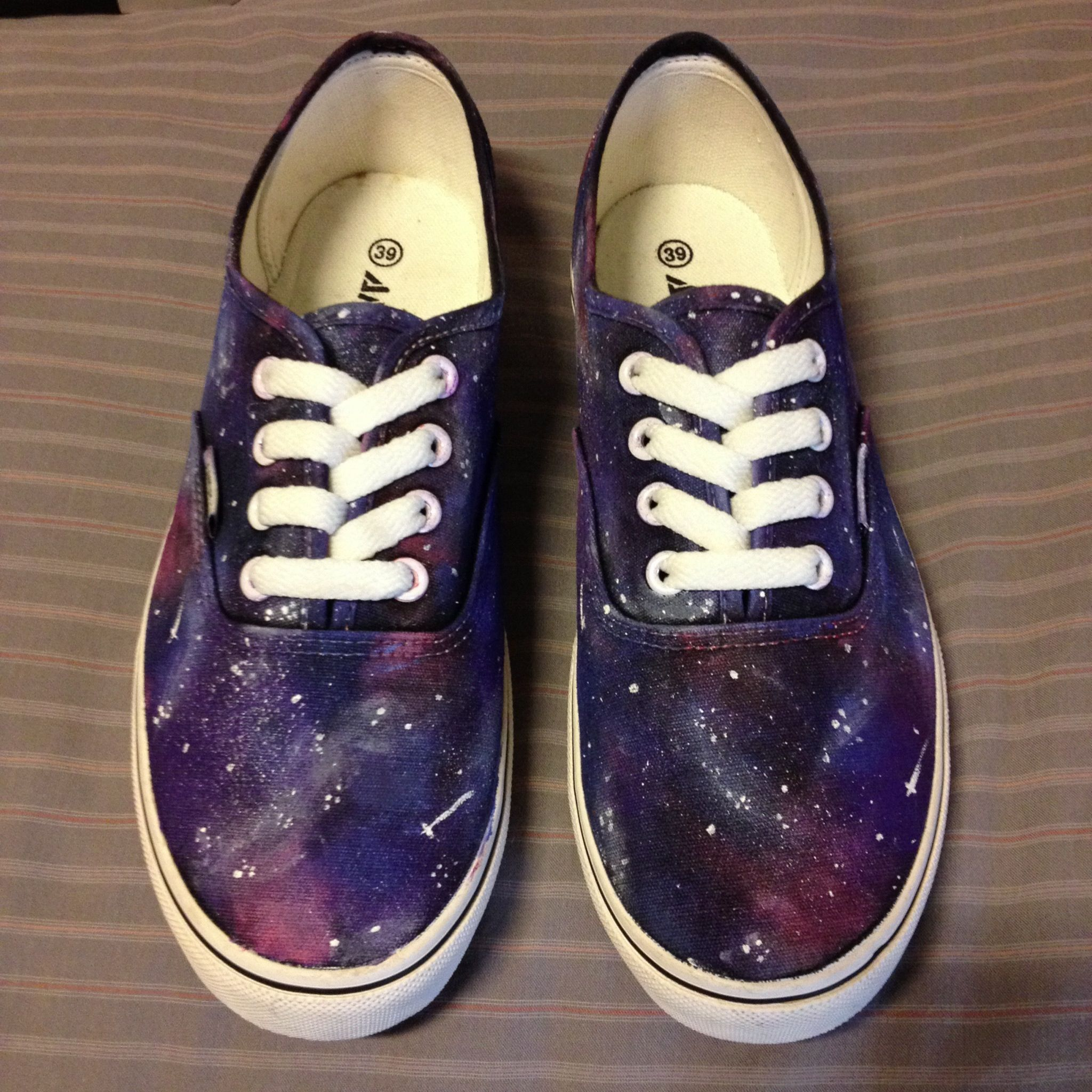 DIY galaxy shoes/ universe vans purple and pink!