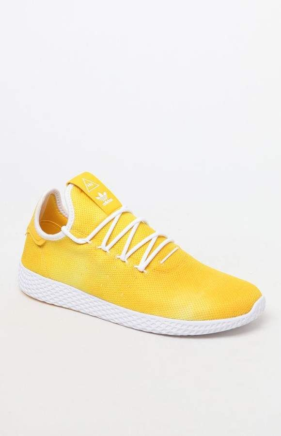 Adidas X Pharrell Williams Hu Holi Yellow Tennis Shoes Yellow Adidas Pharrell Williams Cute Womens Shoes