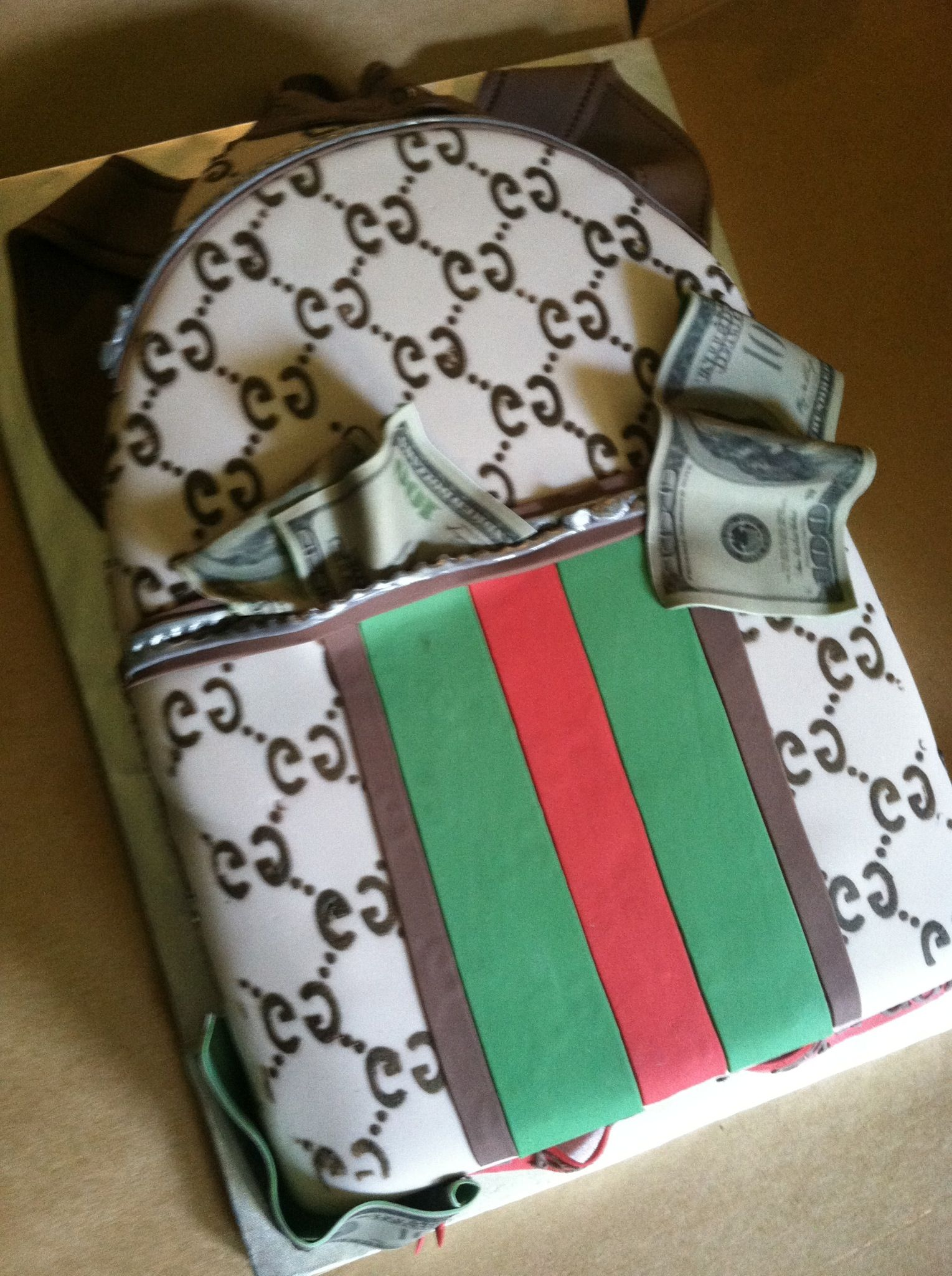 Gucci Backpack Cake All Edible Adult Birthday Cakes