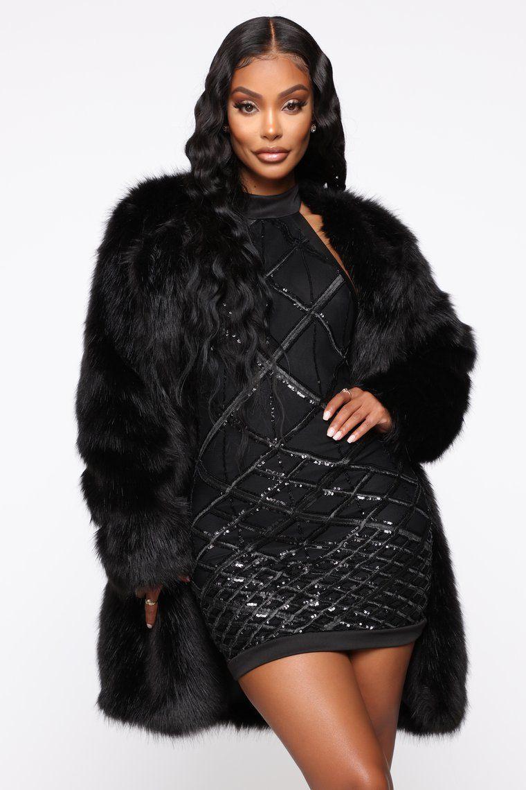 Franchesca Fur II Jacket Black Fashion, Coat, Fashion