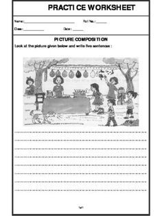 Worksheet of Picture Composition-Paragraph Writing-Writing ...