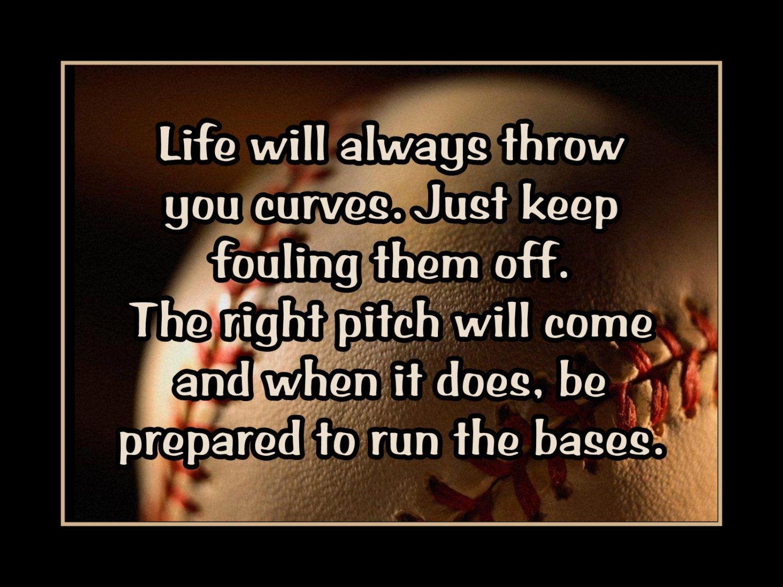 "Baseball Life Quotes Baseball Motivation Quote Poster Wall Art Print 5X7"" 11X14"" Life"