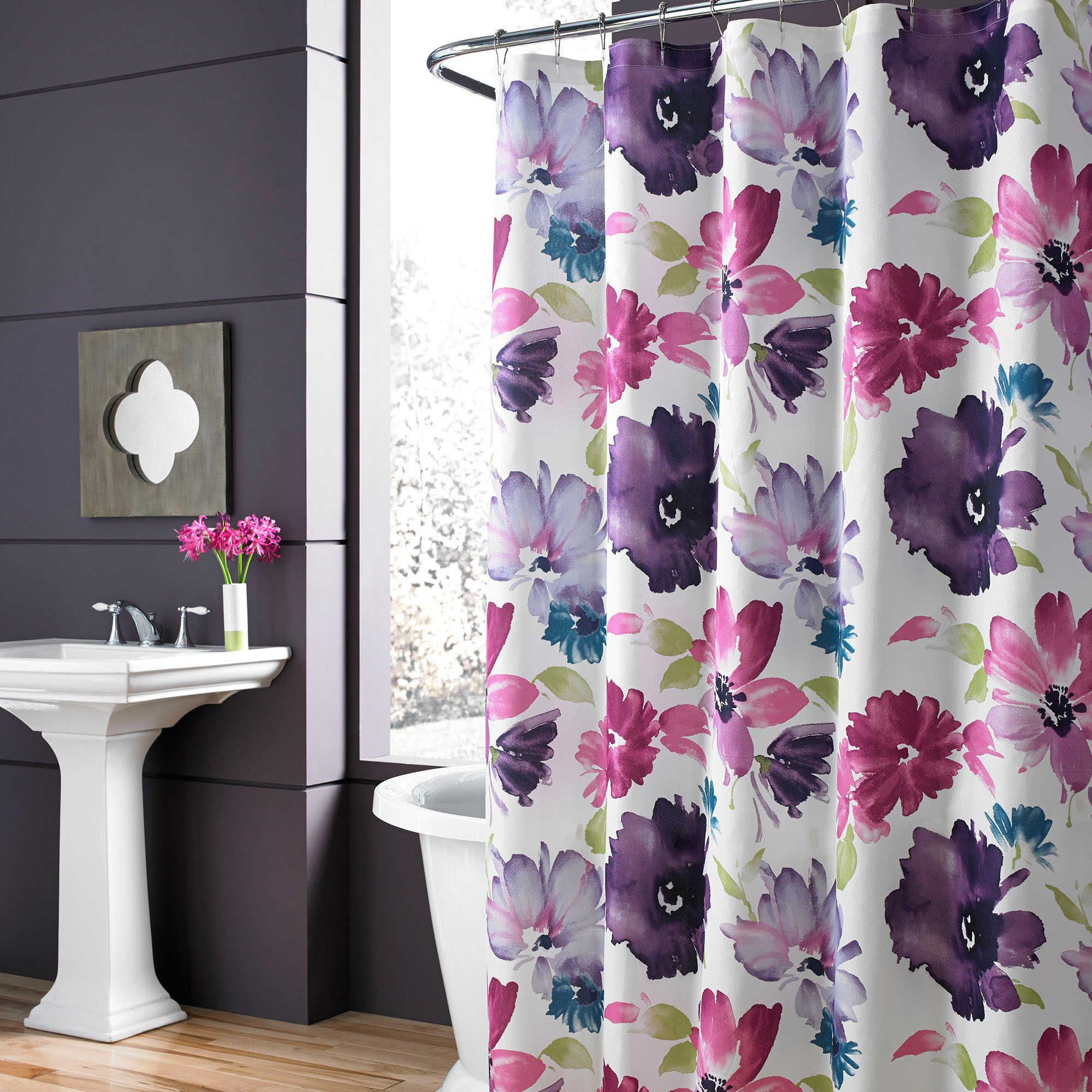 J Queen New York Midori Shower Curtain Floral Shower Curtains