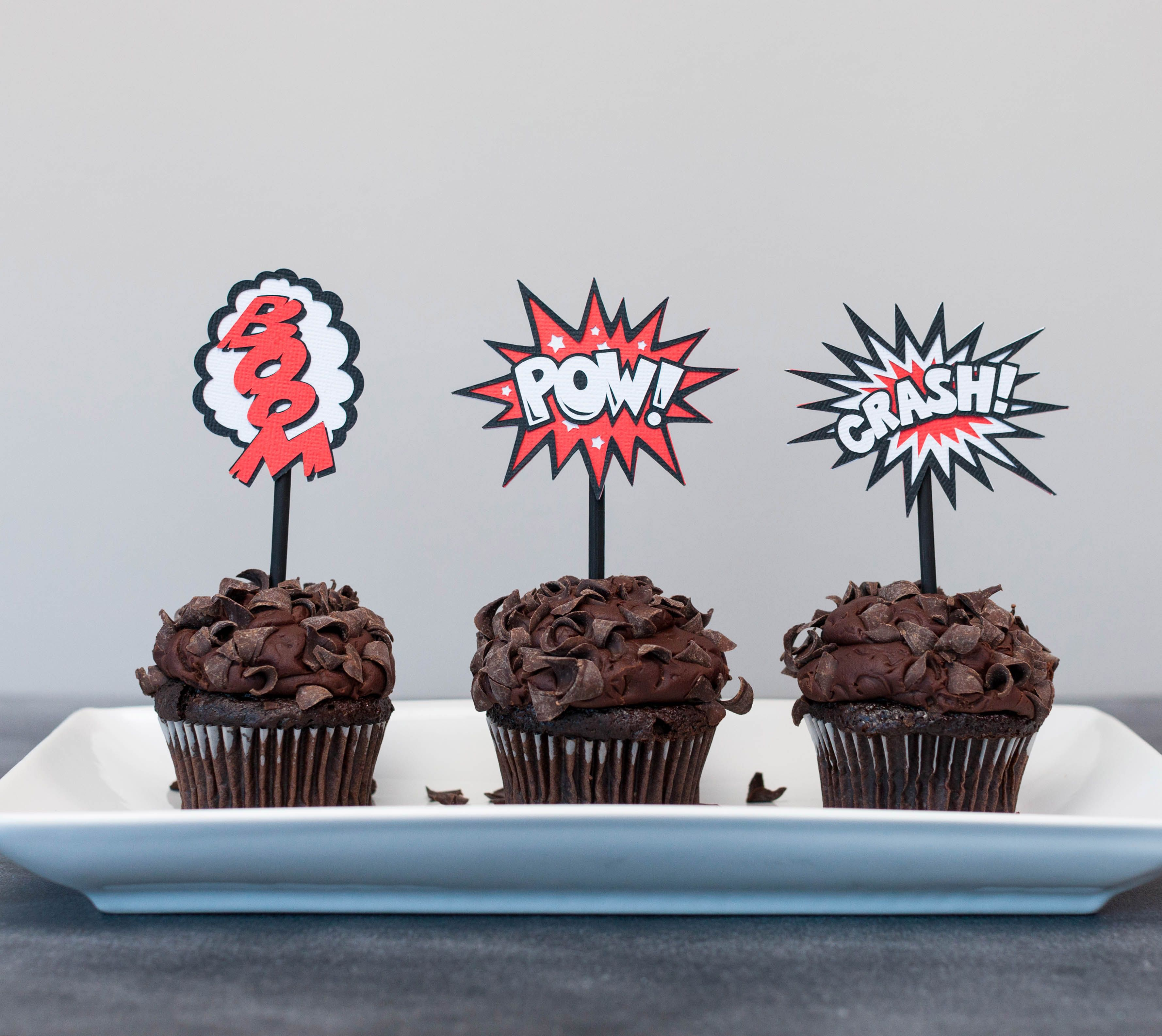 how to make cupcake toppers with cricut machine