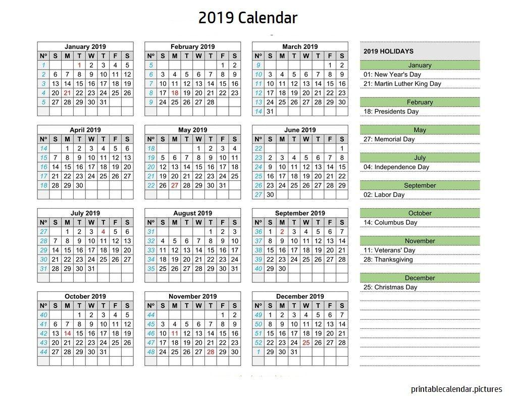 Calendar 2019 Holidays 2019 Calendar Holidays Pinterest
