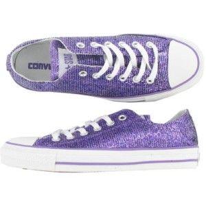 Sparkly converse, Purple shoes
