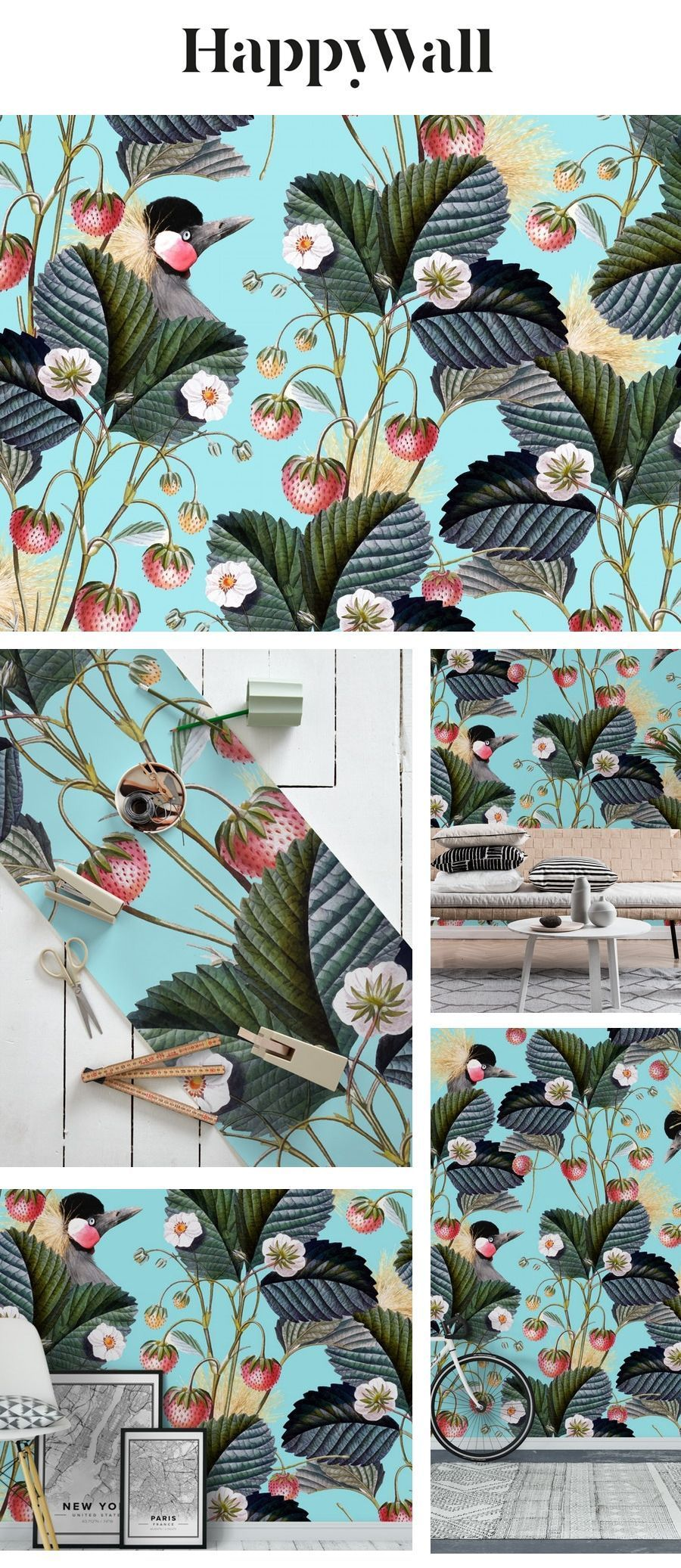 Strawberry Bush Hide-Out Wall Mural / Wallpaper Nature #octoberwallpaper Strawberry Bush Hide-Out wall mural from Happywall #tropical #wallmurals #exotic #october #strawberry #leaves #bird #graphic #animal #november #wallpaper #happywall #wallpapers #design #botanical #pattern #vintage #fruit #wallmural #food #nature #novemberwallpaper Strawberry Bush Hide-Out Wall Mural / Wallpaper Nature #octoberwallpaper Strawberry Bush Hide-Out wall mural from Happywall #tropical #wallmurals #exotic #october #octoberwallpaper
