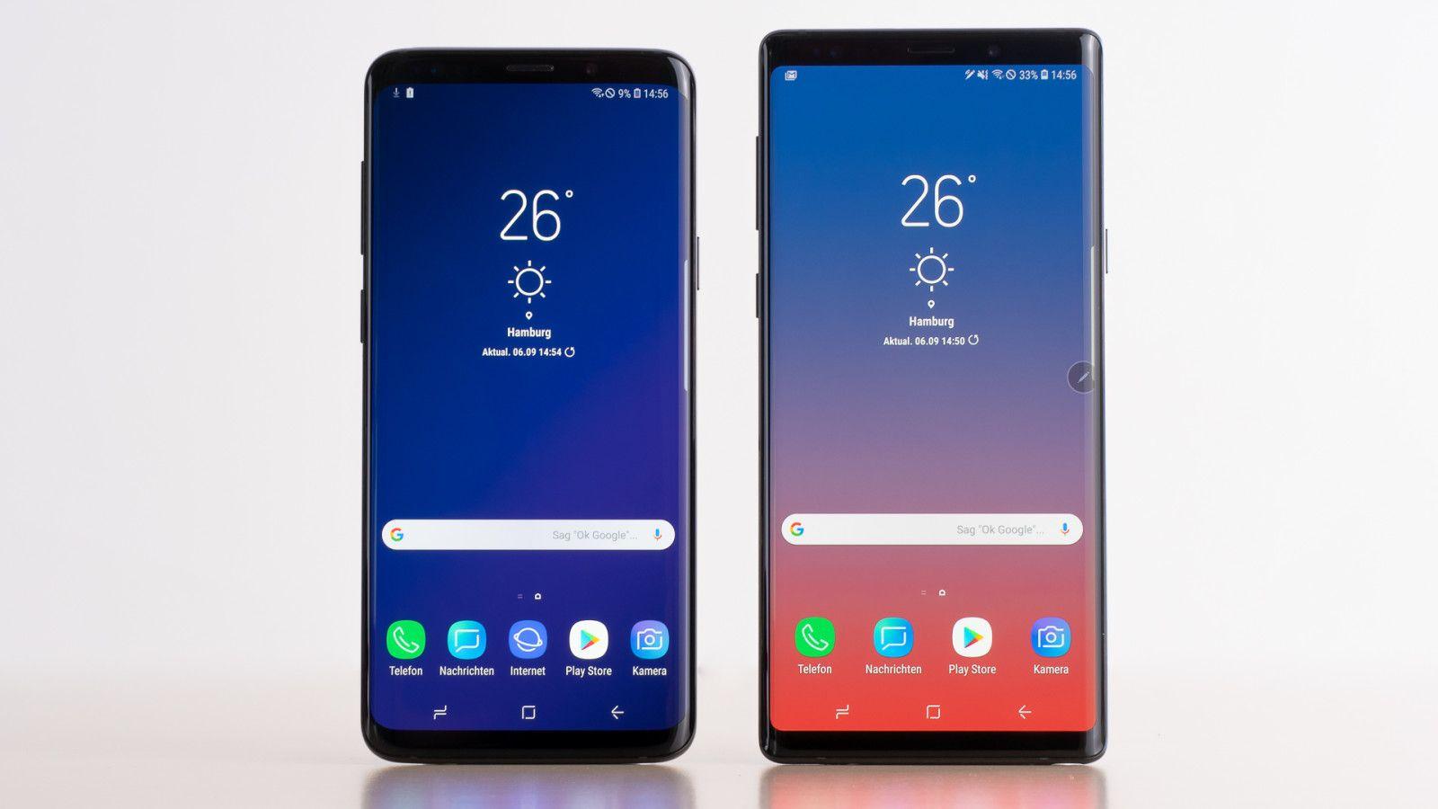 Unterschied Samsung Galaxy S9 Und S9 Note 9