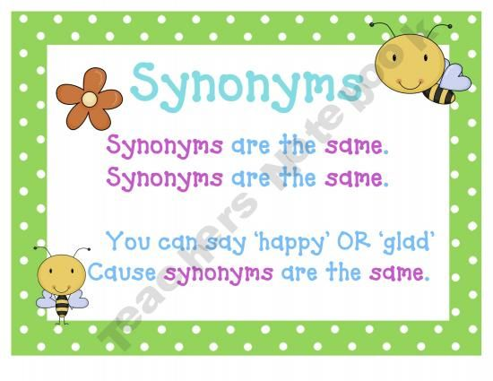 Synonyms and antonyms posters free 3rd 5th grade for Coute synonyme