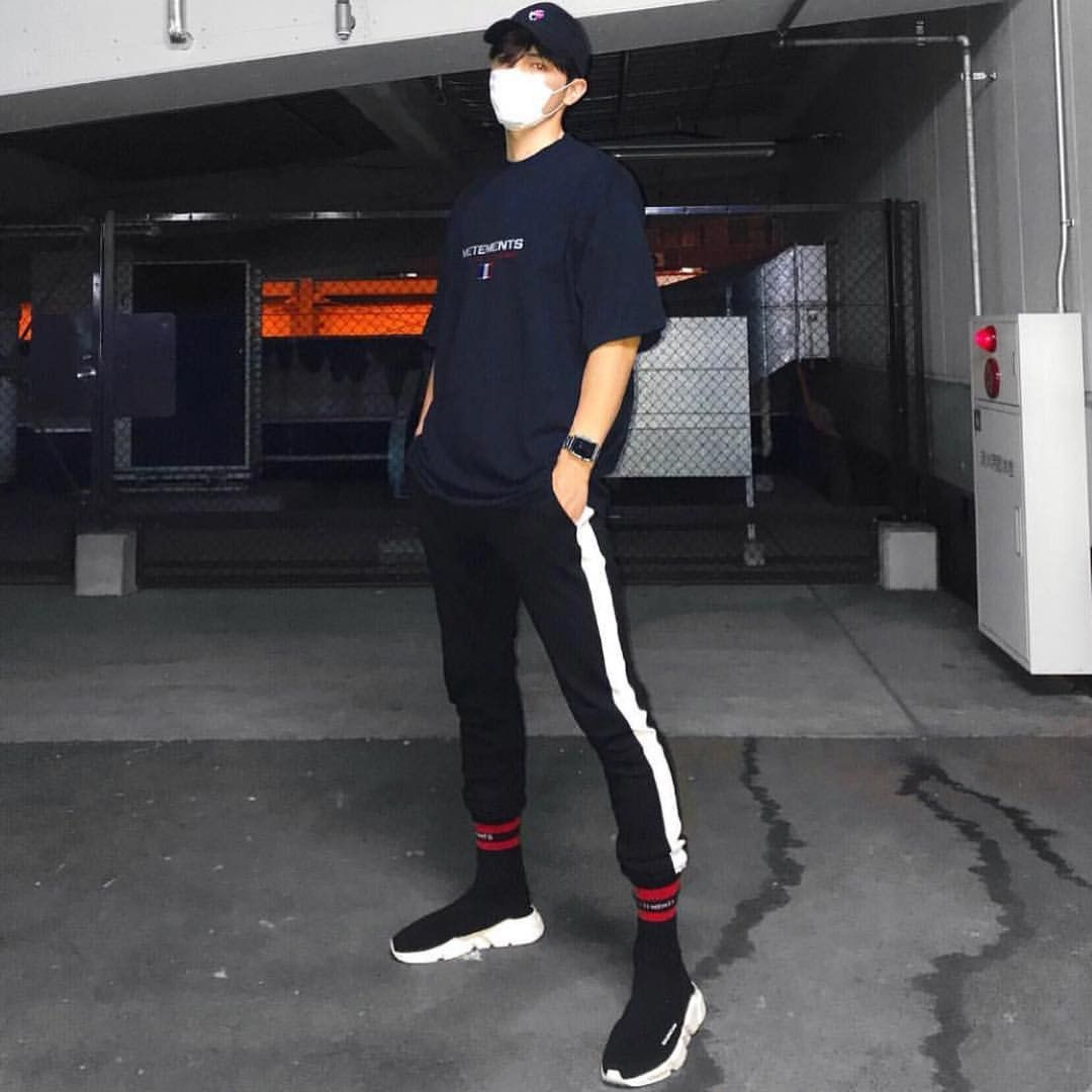 Balenciaga Black Bonded Speed Sneakers