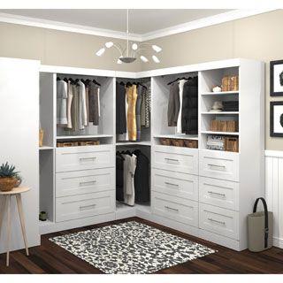 Pur By Bestar 108 Inch Storage Kit   18350223   Overstock.com Shopping  . Closet  StorageStorage ShelvesShelfCorner UnitCorner ...