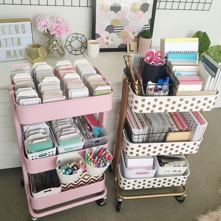 15 diy clever home storage hacks rendszerez s pinterest scraproom rangement et bureau. Black Bedroom Furniture Sets. Home Design Ideas