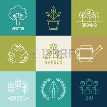 Vector Gardening Logo Stock Illustrations Cliparts And Royalty Free Vector Gardening Logo Vectors Graphic Design Business Logo Design Design Elements