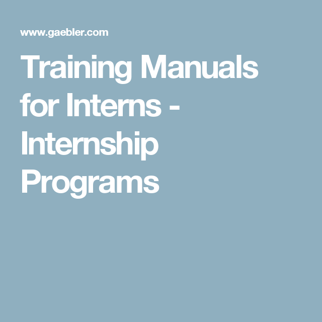 Top 16 Training Manuals for Interns Workers in Nigeria