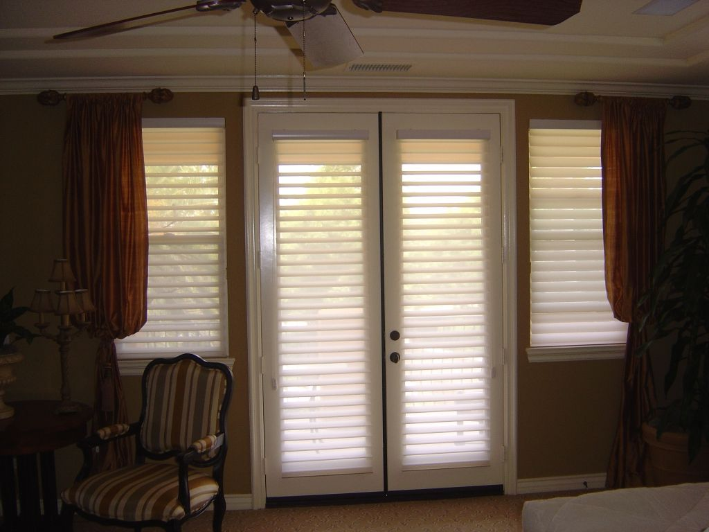 Window treatment ideas for doors including sliders, French doors ...