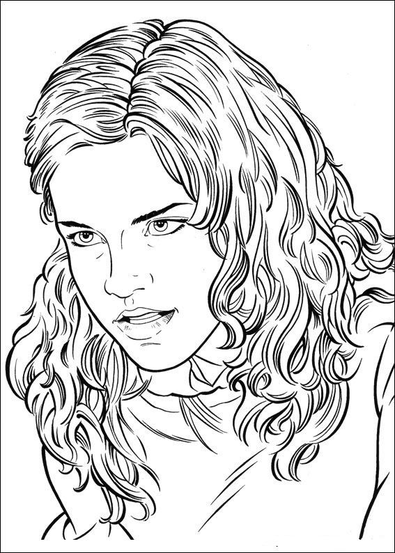 Coloring hermione granger who is angry on free hermione granger coloring pages hermione granger who is