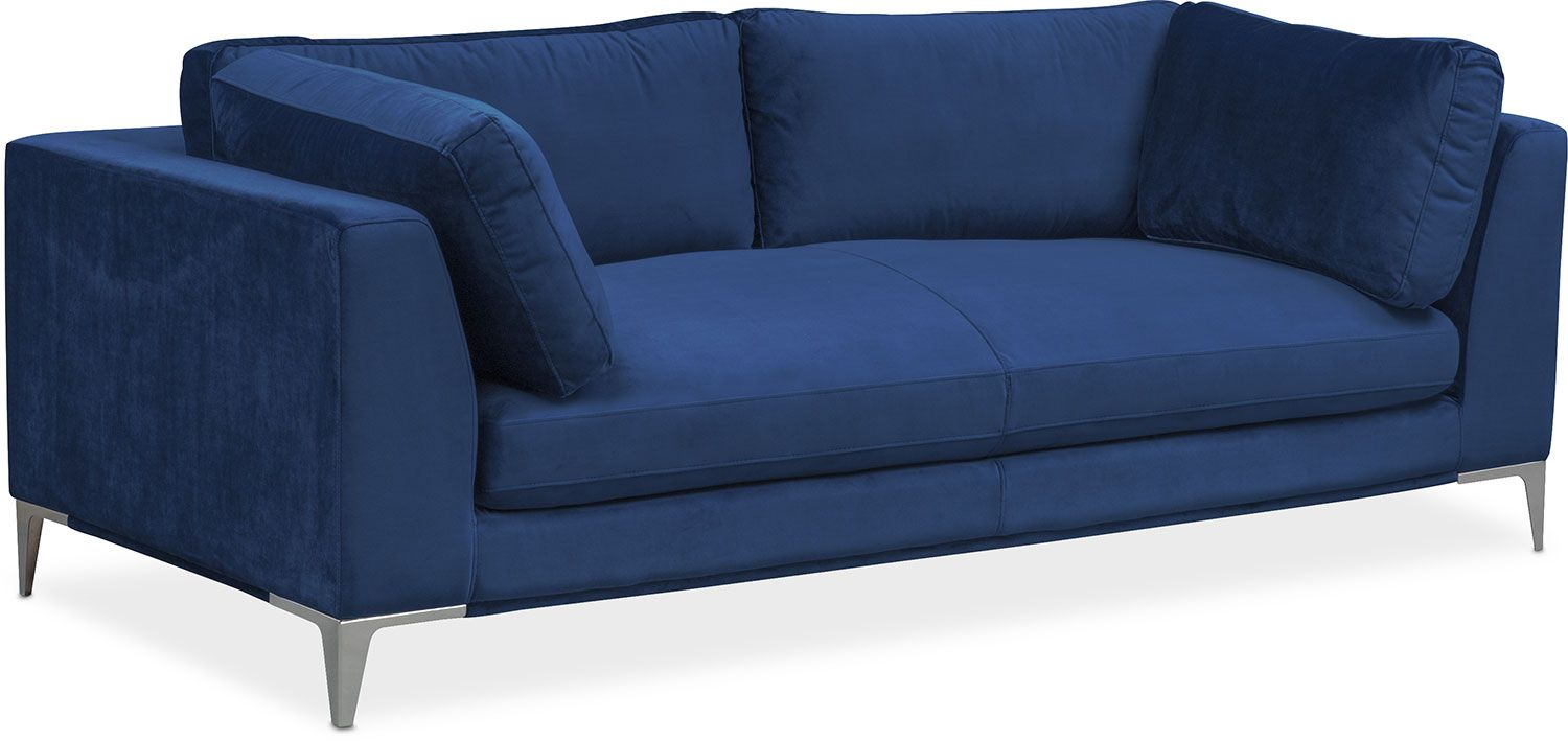 Best Living Room Furniture Aaron Sofa Indigo Cozy Living 400 x 300