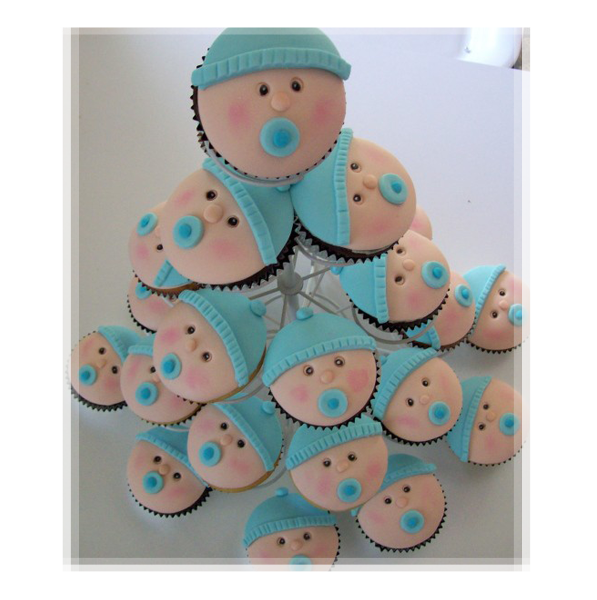Baby Boy Blue Shower Cupcake except do in pink or lavender.  <3
