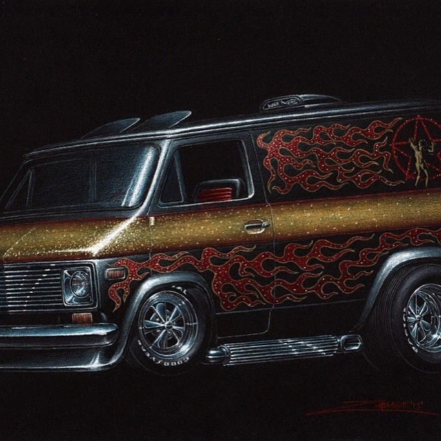 Colored pencil dodge van art 70s custom vans pinterest colored pencil dodge van art sciox Image collections