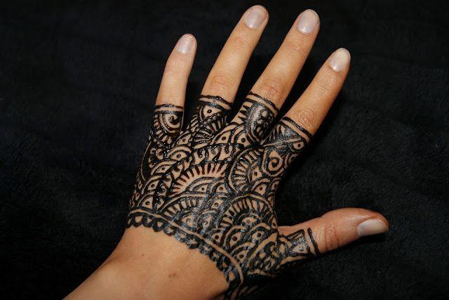 Fashion Beauty Glamour: The henna Glove - tutorial