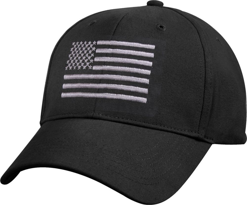 Black Subdued American Flag Embroidered Low Profile Baseball Cap Us Flag Hat Rothco Baseballcap Black American Flag Profile Black Black Baseball Cap