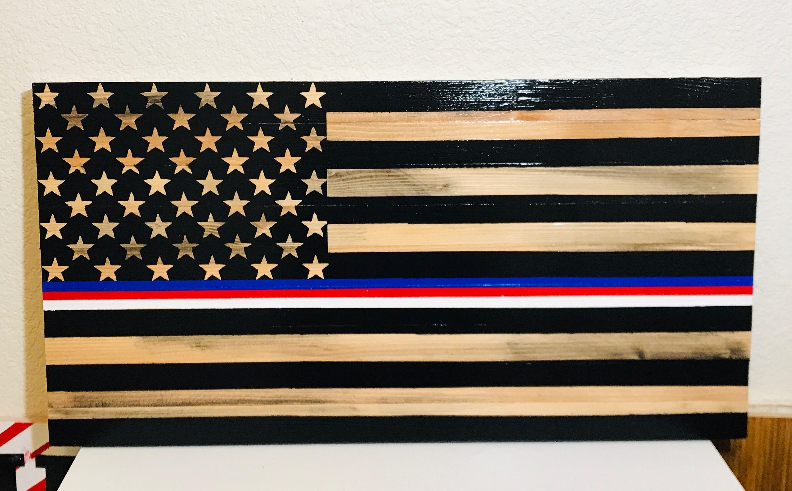 Marines Air Force Navy Army Police Fire Ems Corrections Etsy In 2020 American Flag Wood Wood Flag Rustic Flags