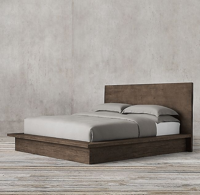 Reclaimed Russian Oak Platform Bed In 2019 Room Wood Beds Oak Beds Platform Bed