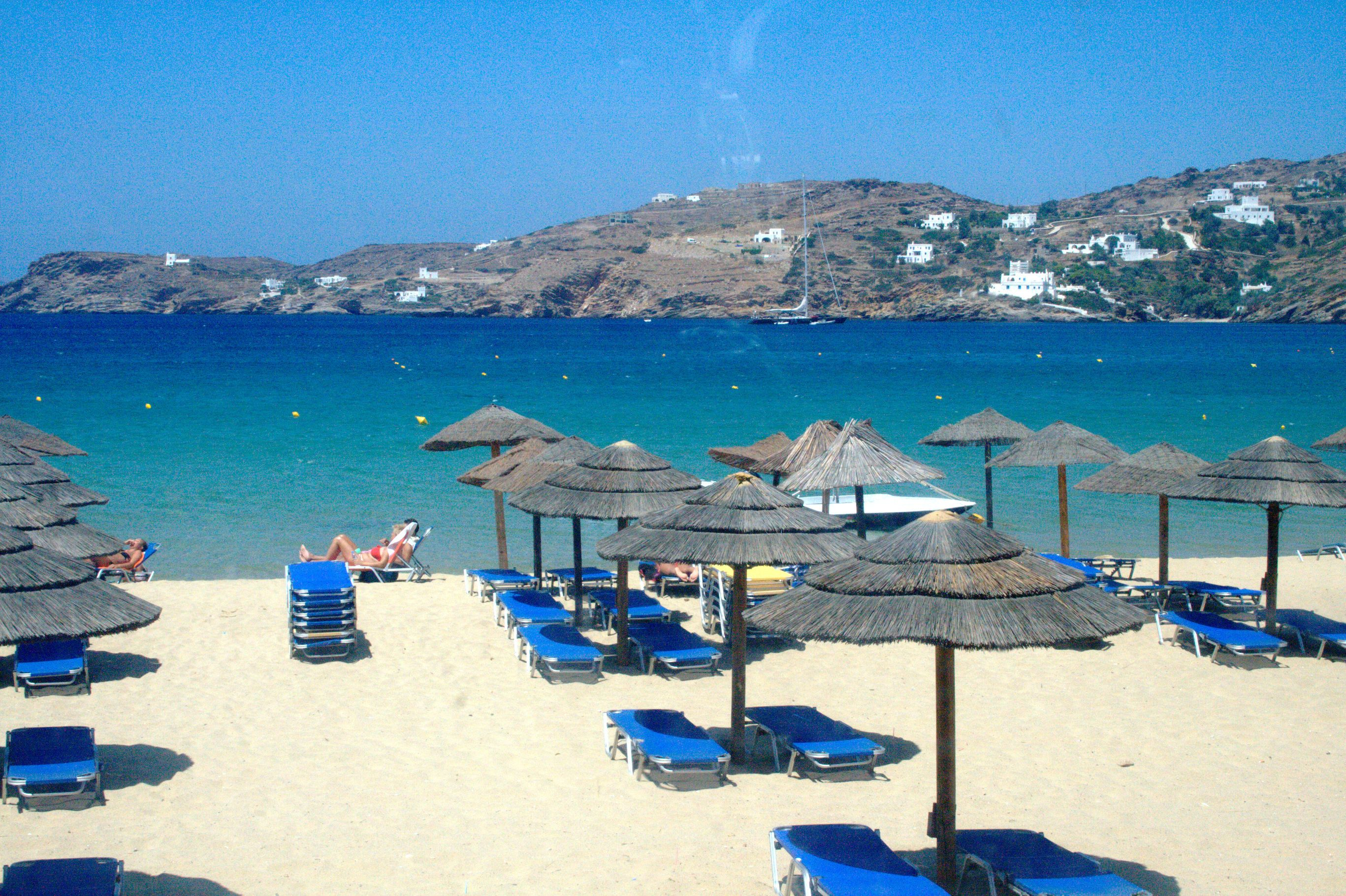 Mylopotas Beach Ios Island Greece VarietyCruises Experience - Greek island vacations