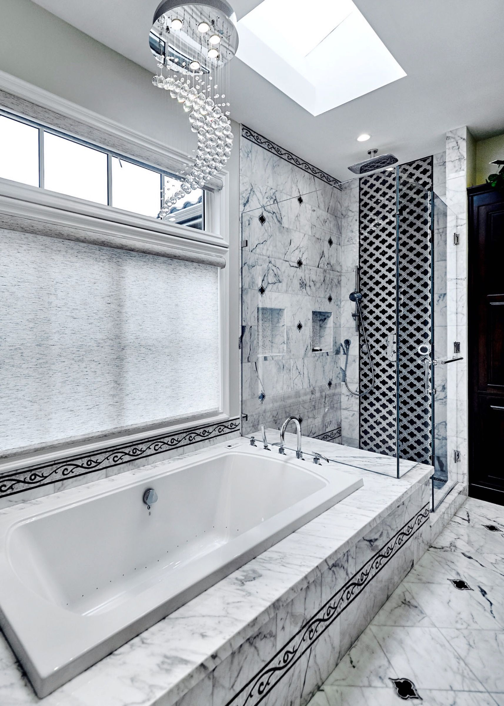 Incredible Tile And Glamorous Details Make This Master Bath A Show