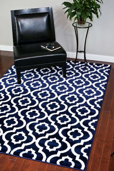 Amazon.com - 3028 Gray Moroccan Trellis 7'10x10'6 Area Rug Carpet Large New -