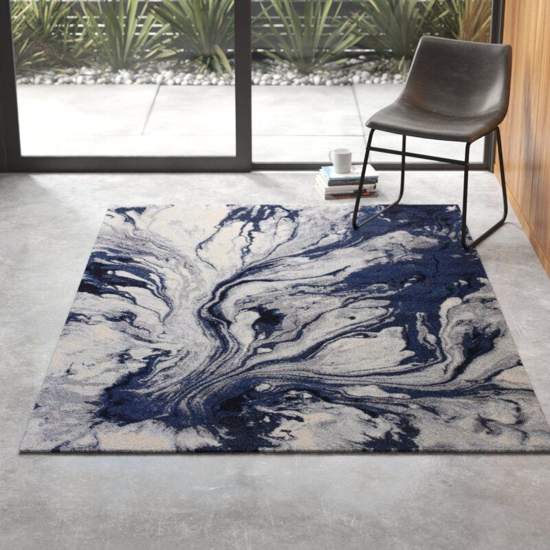 Kaia Abstract Blue Area Rug In 2020 Area Rugs Rugs Blue Area