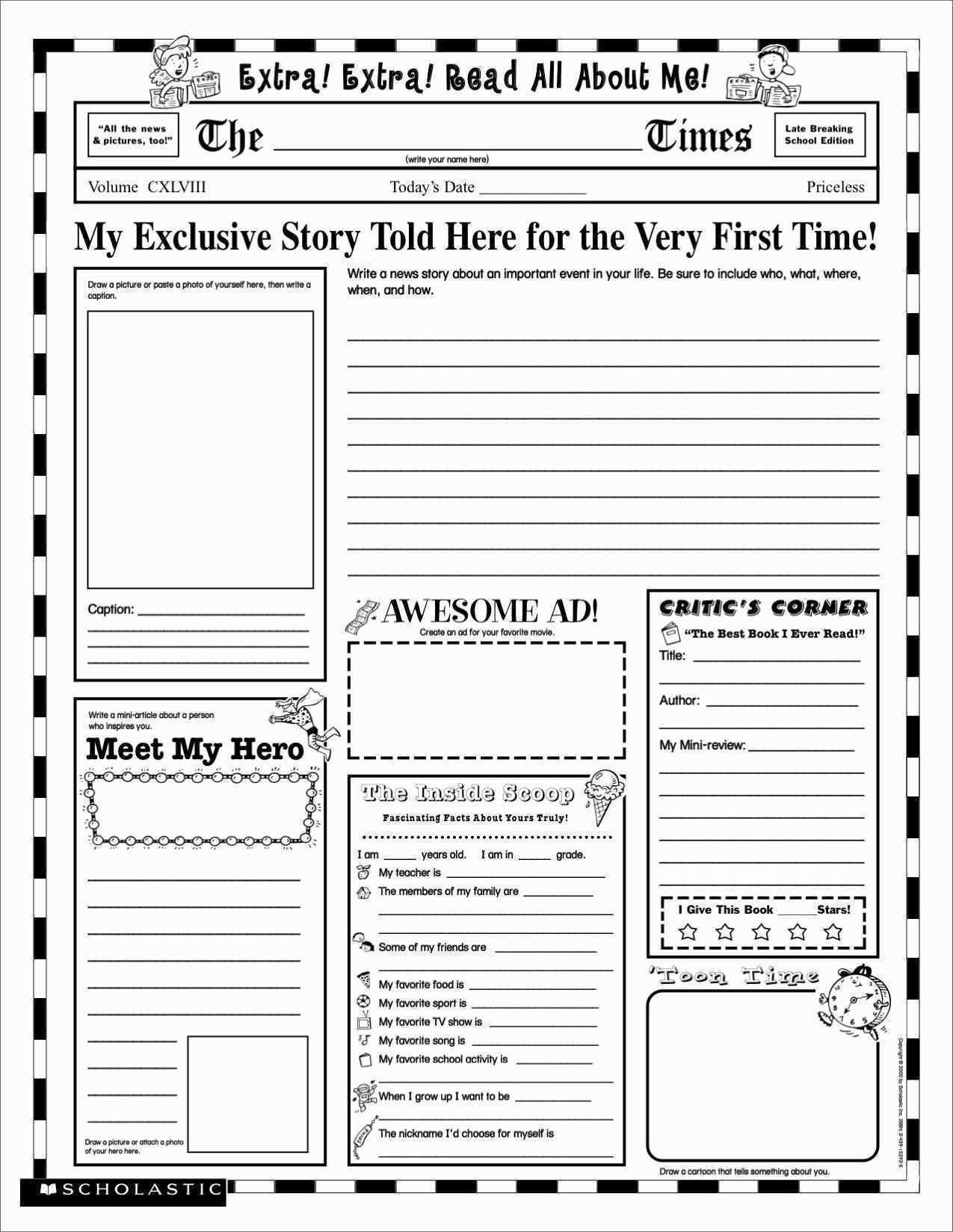 Biography Report Template In