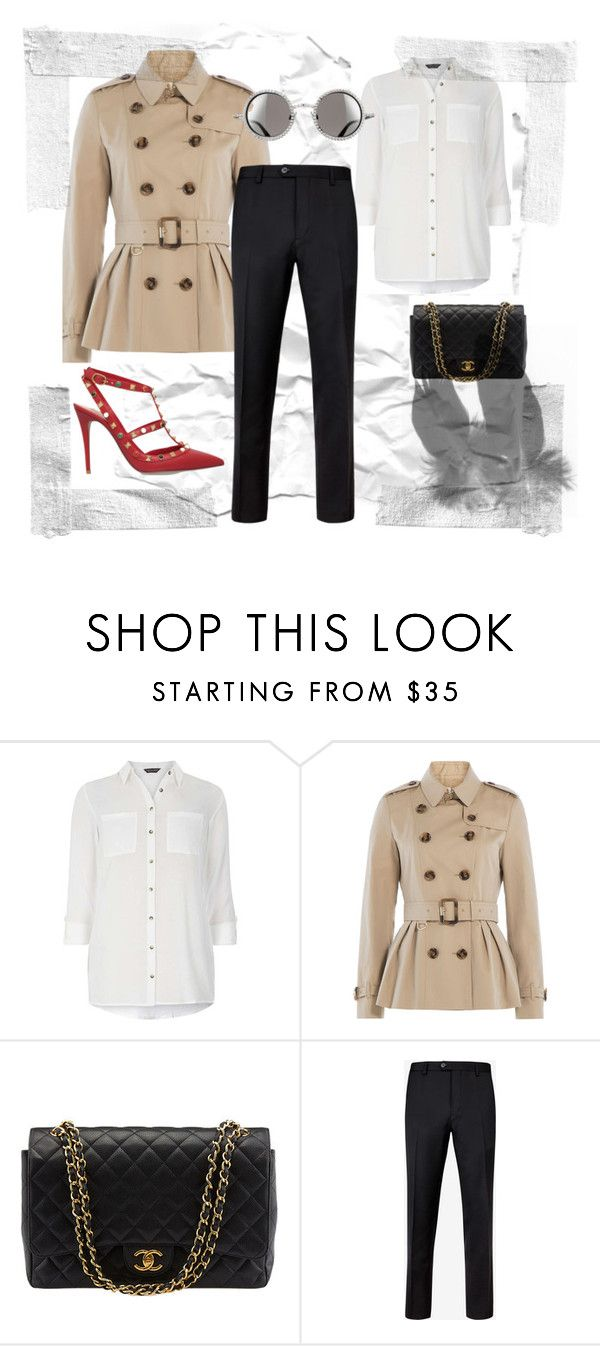 2 by lancymapthesoul on Polyvore featuring Dorothy Perkins, Burberry, Valentino, Chanel and Ted Baker