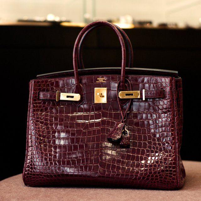 5df418ef919 Fancy - Hermes Birkin Bag 35cm Bordeaux Crocodile. In case you re an  enormous asshole.  95