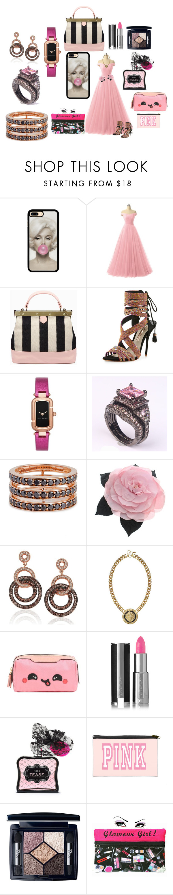 Untitled #430 by bamagirl0320 on Polyvore featuring Sophia Webster, Tammy & Benjamin, Bochic, Marc Jacobs, Suzy Levian, Chanel, Christian Dior, Givenchy, Victoria's Secret and Anya Hindmarch